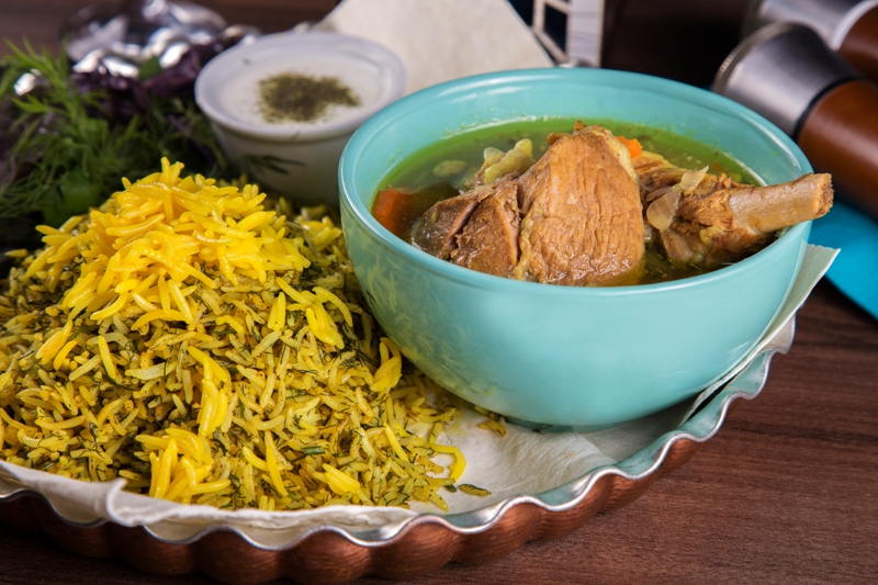 Sabzi Pilaf with lamb