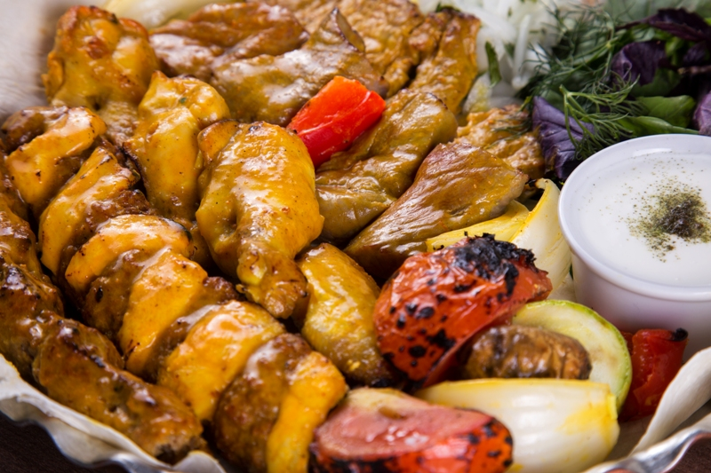 Assorted shashlik
